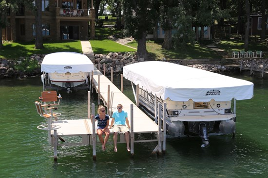 Free Standing Pontoon Lift 15
