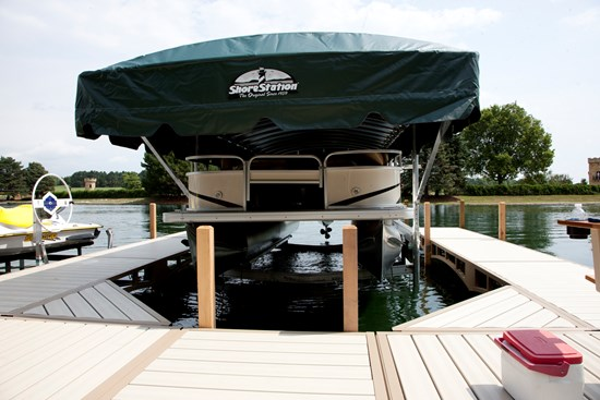 Free Standing Pontoon Lift 21