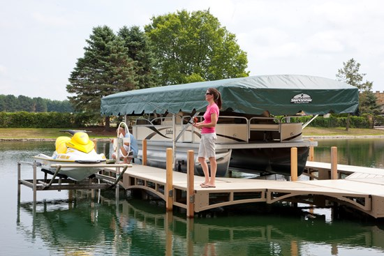 Free Standing Pontoon Lift 22