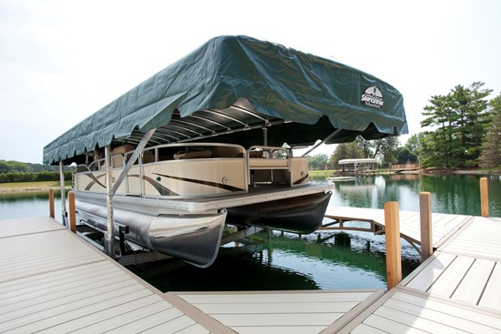 Free Standing Pontoon Lift 31