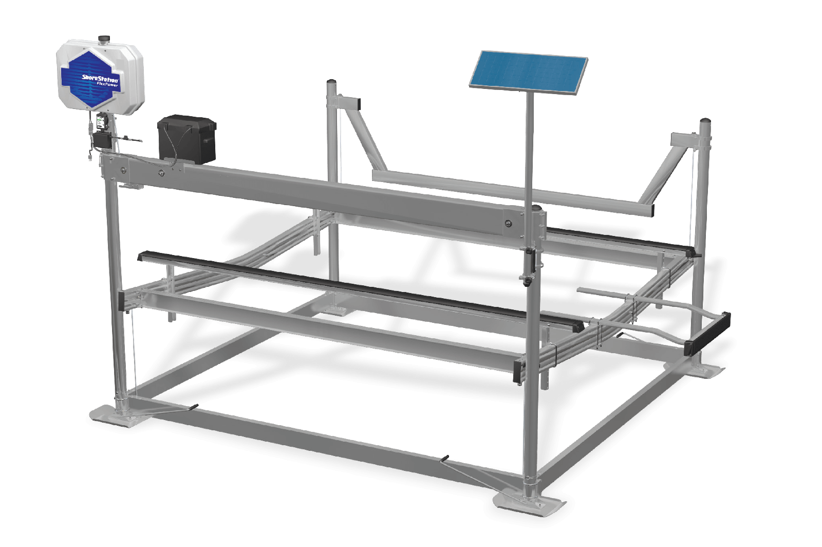 Power systems free standing boat lifts shorestation for Electric boat lift motor