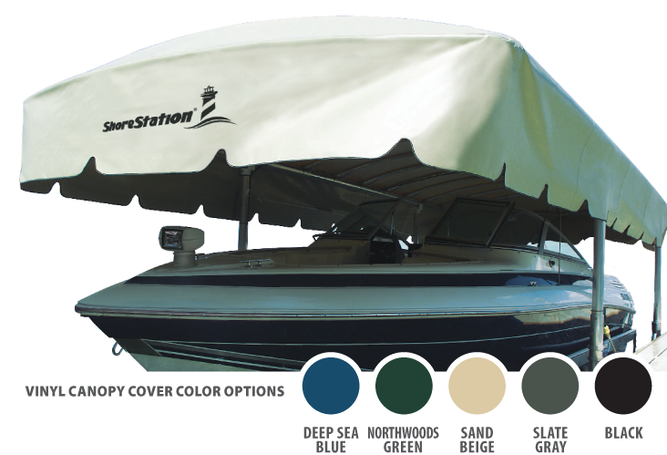 ShoreStation Vinyl Canopy Cover Color Options