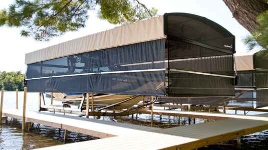 Shorescreen Power Curtain Canopy Cover Systems